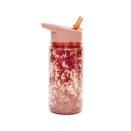 Drinkfles Glitter Peach Blossom