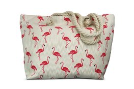 Miracles Beach Bag Flamingo Allover