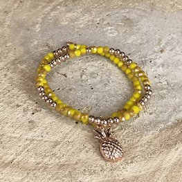 Miracles armband Pineapple gold-yellow
