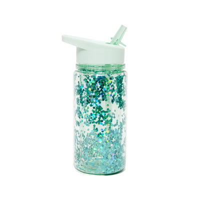 Drinkfles Green Lilly Glitter