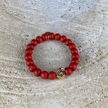 Miracles armband Zia rood