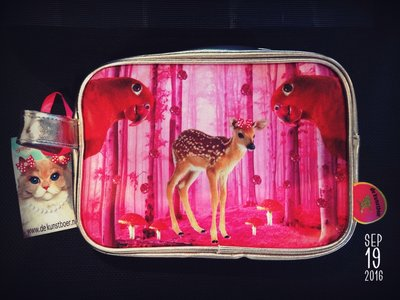 De Kunstboer toilettas bambi