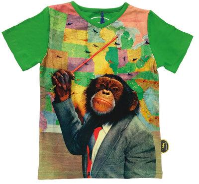 De Kunstboer t-shirt aap jongens