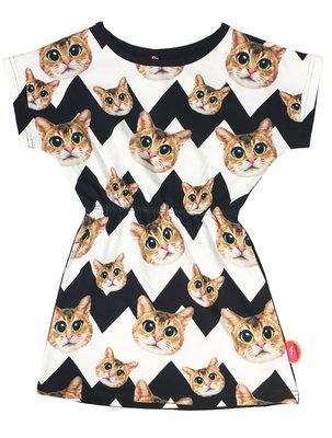 kleedje De Kunstboer Zwart/wit Cats