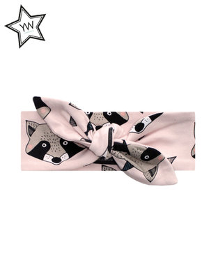 Your Wishes Headband Raccoon Pink