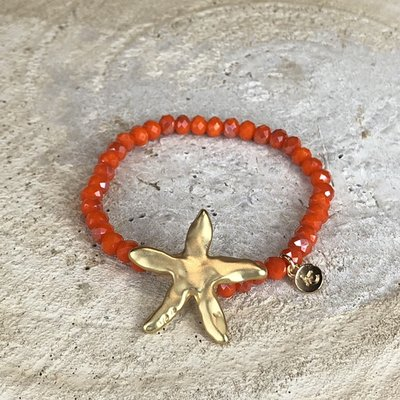 Miracles Armband Sea Star Orange