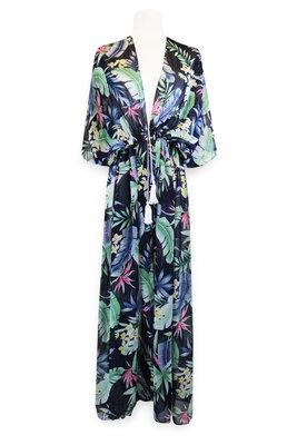 Miracles Beach Dress Hawai Blue Green