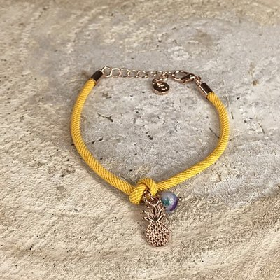 Miracles Armband Yellow Pineapple