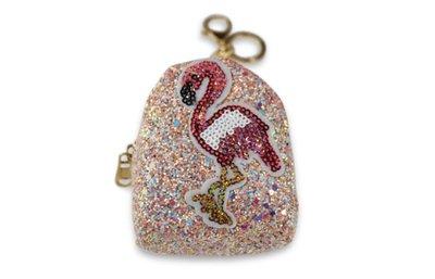 Miracles Portemonnee Sleutelhanger Flamingo