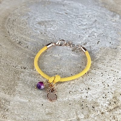 Miracles armband geel ananas kids