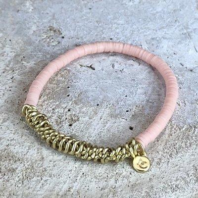 Miracles armband pink shell