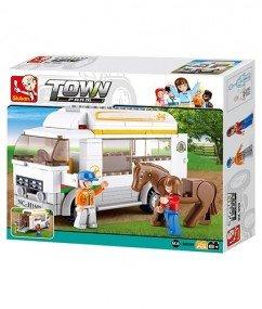 Sluban Bouwstenen Paardentransport