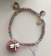 Armband Pompon Dragonfly van Miracles by Annelien Coorevits