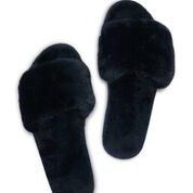 Slippers Zwart Fake Fur van Miracles Annelien Coorevits