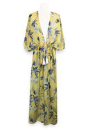 Miracles Beachdress Hawai Yellow bij CEMALI